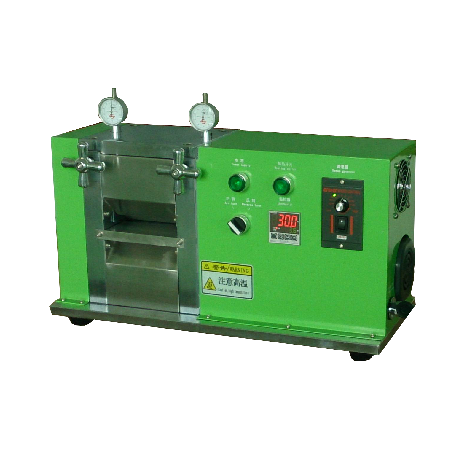 Hot lithium Battery Electrode Calendaring Machine /Electric Hot Rolling Press YD-01100,Glovebox