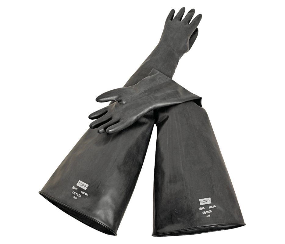 North Butyl Dry Box Gloves-Glove Box Gloves