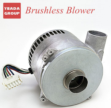240 Voltage, Tangential Discharge Brushless Blower, 123.7 CFM, 5.7